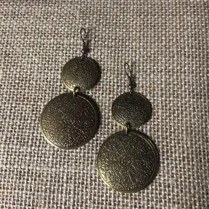 Brass tone earrings new